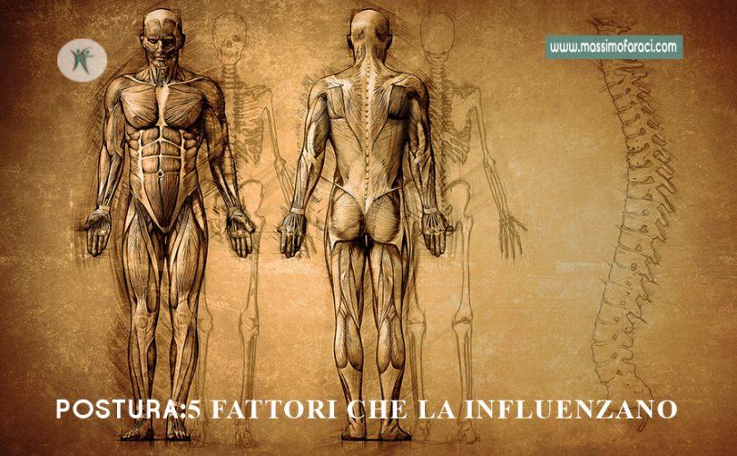 5 fattori che influiscono sulla postura